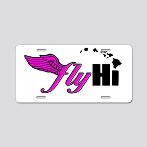 Pink Classic Logo Apparel Aluminum License Plate