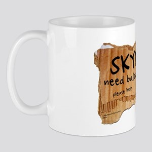 Skydiver Bailout Package Mug
