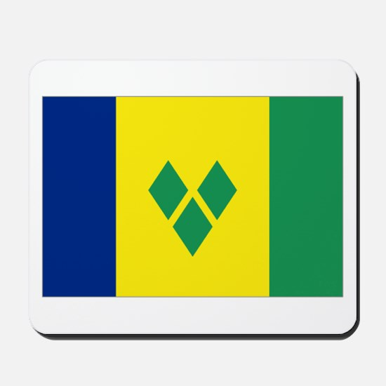 St Vincent & The Grenadines Nal flag Mousepad