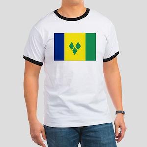 St Vincent & The Grenadines Nal flag Ringer T