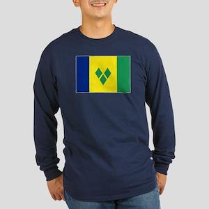 St Vincent & The Grenadin Long Sleeve Dark T-Shirt