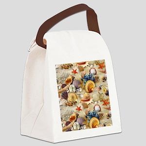 Seashell Canvas Lunch Bag