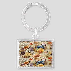 Seashell Landscape Keychain