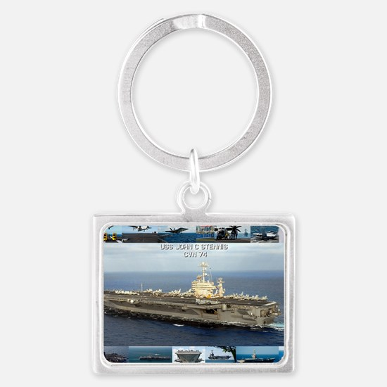 USS John C Stennis Landscape Keychain