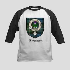 Fergusson Clan Crest Tartan Kids Baseball Jersey