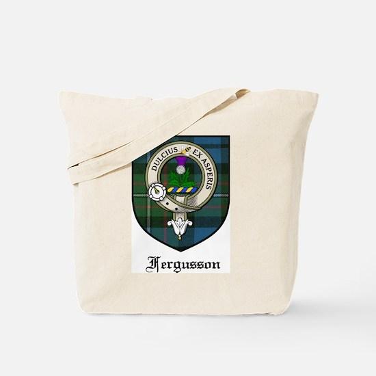 Fergusson Clan Crest Tartan Tote Bag