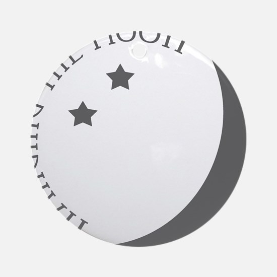Hanging the Moon Grey Logo Round Ornament