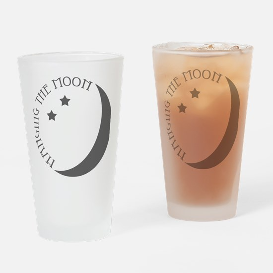 Hanging the Moon Grey Logo Drinking Glass