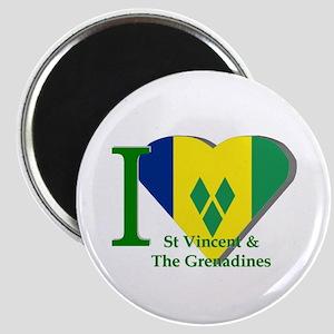 I love St Vincent flag Magnet