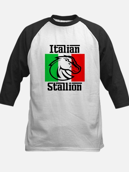 Italian Stallion Kids Baseball Jersey