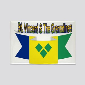 St Vincent & The Grenadines Rectangle Magnet