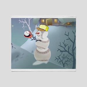 Baseball Christmas Throw Blanket
