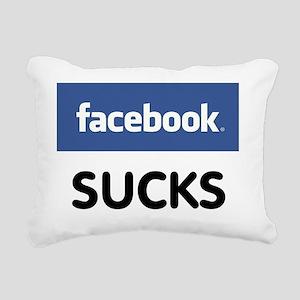 Facebook Sucks Rectangular Canvas Pillow