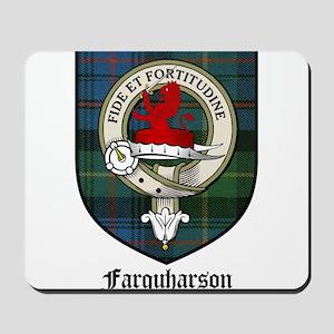Farquharson Clan Crest Tartan Mousepad