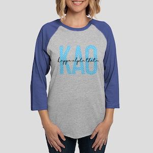 Kappa Alpha Theta Polka Dots Womens Baseball Tee