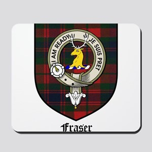 Fraser Clan Crest Tartan Mousepad