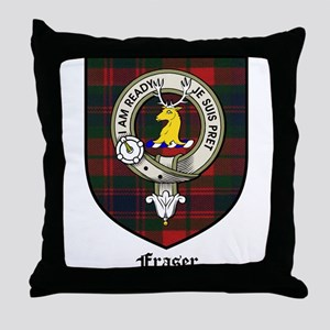 Fraser Clan Crest Tartan Throw Pillow