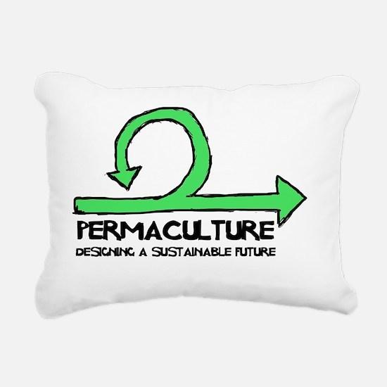 Permaculture: Designing  Rectangular Canvas Pillow