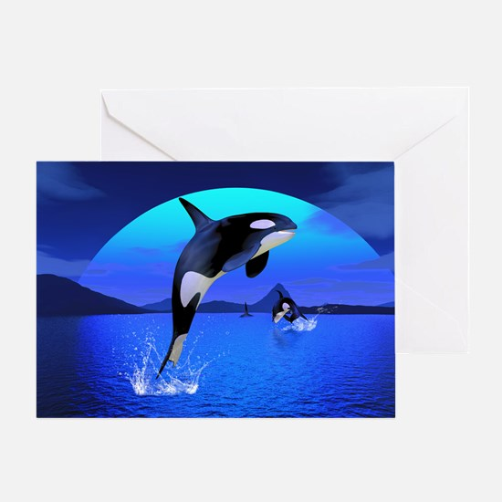 orca_pillow_case Greeting Card