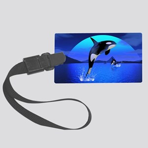 orca_pillow_case Large Luggage Tag