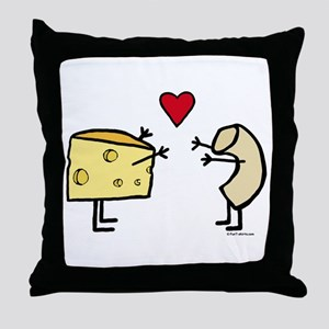 Macaroni and Cheese Love Throw Pillow
