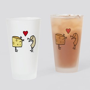 Macaroni and Cheese Love Drinking Glass