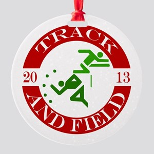 Track & Field - 2013 Round Ornament