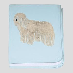 Komondor Dog baby blanket