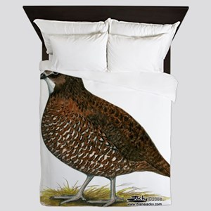 Tennessee Red Quail Queen Duvet