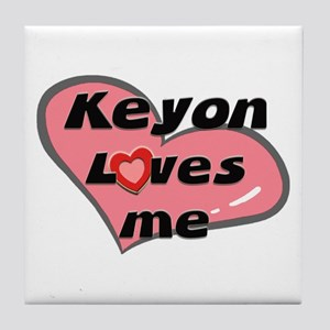 keyon loves me  Tile Coaster