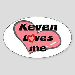 keven loves me Oval Sticker