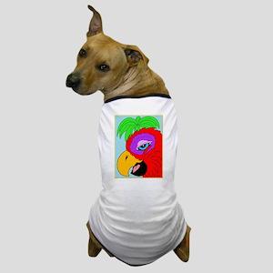 Tropical Hookbill Parrot Dog T-Shirt