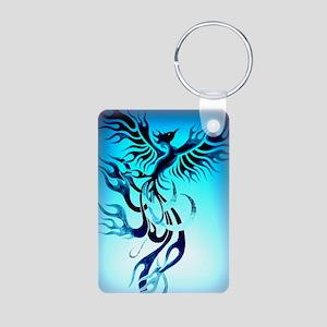 Blue Phoenix 2 Aluminum Photo Keychain
