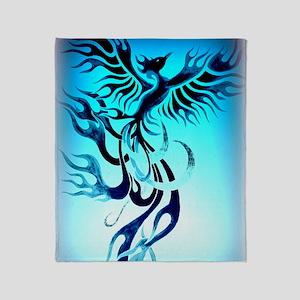 Blue Phoenix 2 Throw Blanket