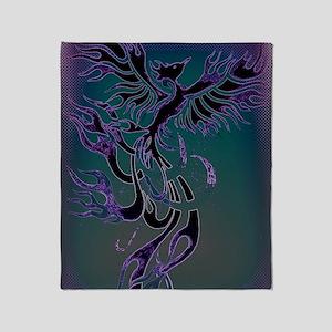 Blue Phoenix Throw Blanket