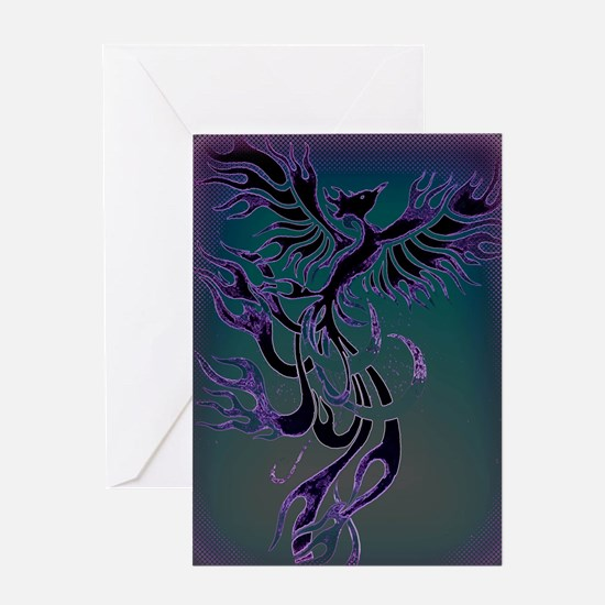 Blue Phoenix Greeting Card