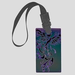Blue Phoenix Large Luggage Tag
