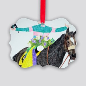 Mike Smith and Zenyatta Picture Ornament