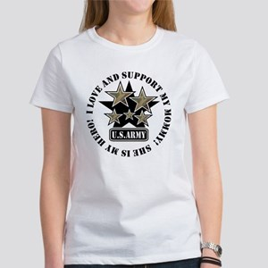 Kids Army Love Support Mommy Women's T-Shirt