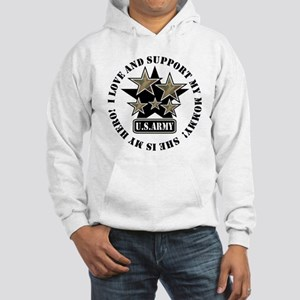 Kids Army Love Support Mommy Hooded Sweatshirt