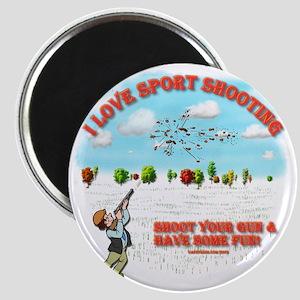 I Love Sport Shooting Magnet