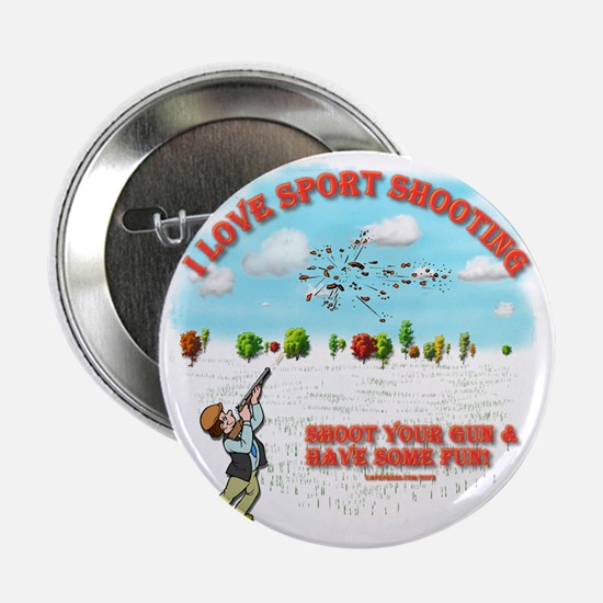 """I Love Sport Shooting 2.25"""" Button"""