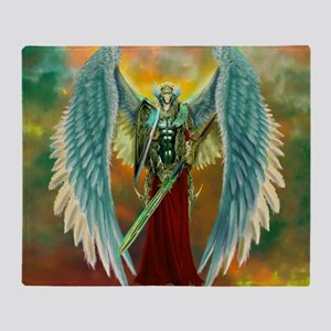 Archangel Michael Throw Blanket