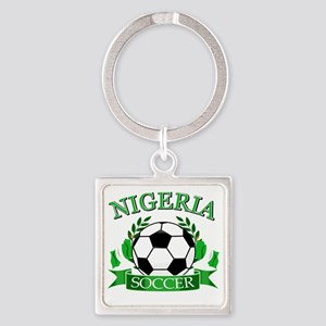 nigeria 1 Square Keychain