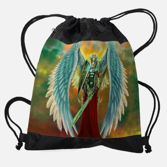 Archangel Michael Drawstring Bag