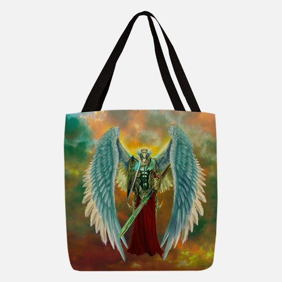 Archangel Michael Polyester Tote Bag