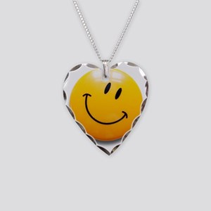 smiley Necklace Heart Charm