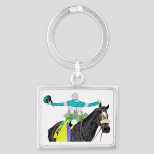 Mike Smith and Zenyatta Landscape Keychain