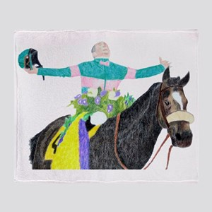Mike Smith and Zenyatta Throw Blanket