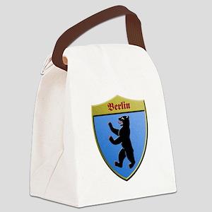 Berlin Germany Metallic Shield Canvas Lunch Bag